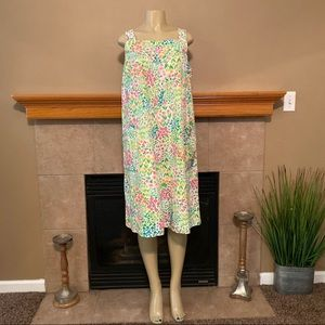 Vintage Alice Of California Duster Floral Dress